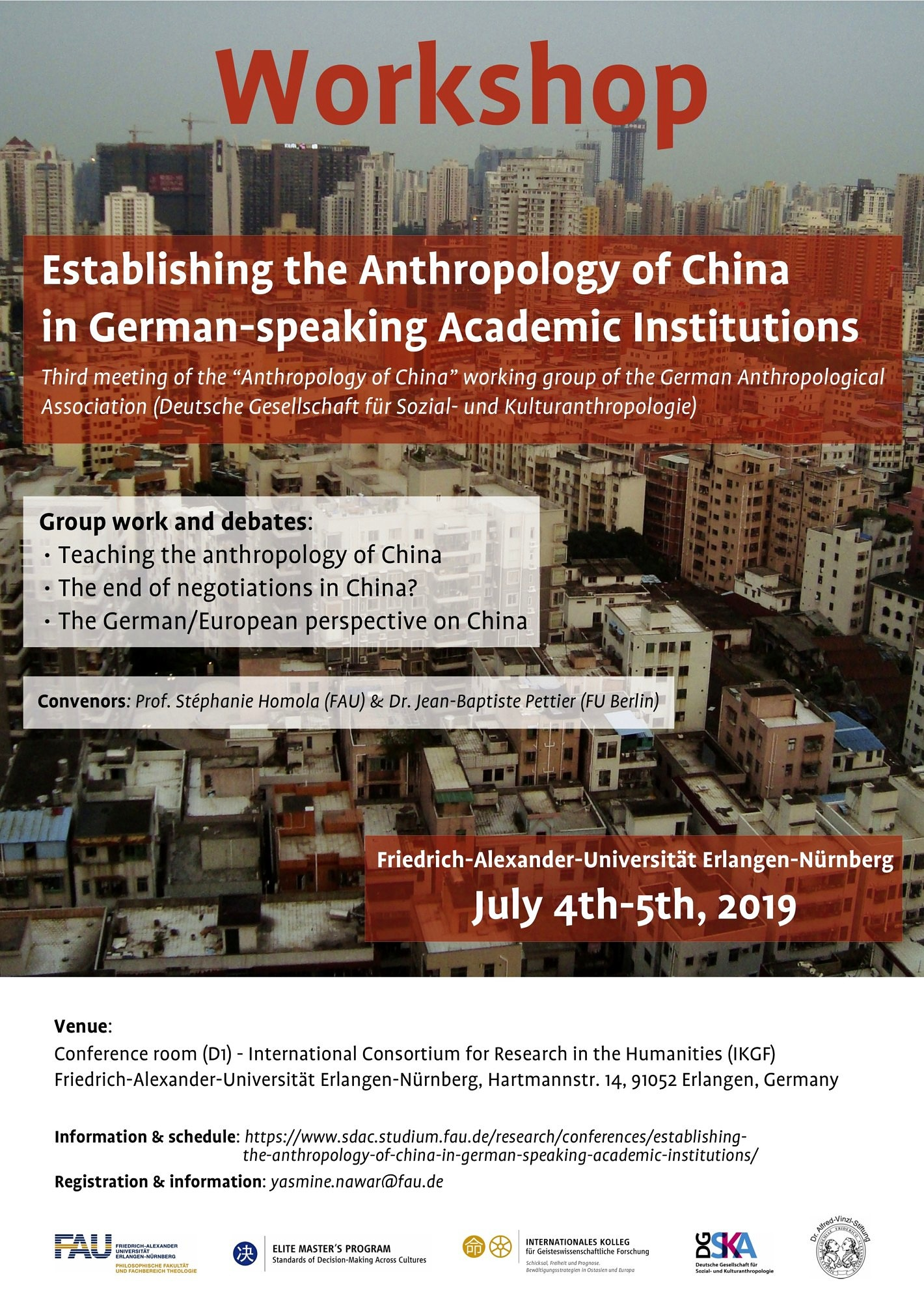 "Towards entry ""The third meeting of the ""Anthropology of China"" working group of the German Anthropological Association"""