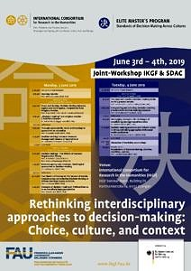 IKGF-SDAC Rethinking interdisciplinary approaches to decision-making poster